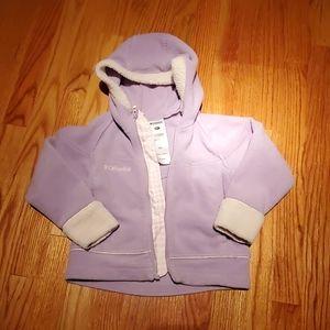 Columbia hooded fleece jacket sz 4/5